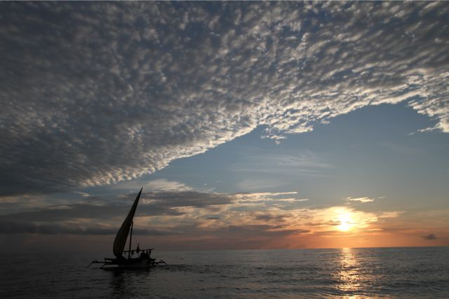 雲が様々な形を変えて出現するが、空一面に広がるうろこ雲が好きだ。もちろん天を突くように発達した入道雲も大好きだ。